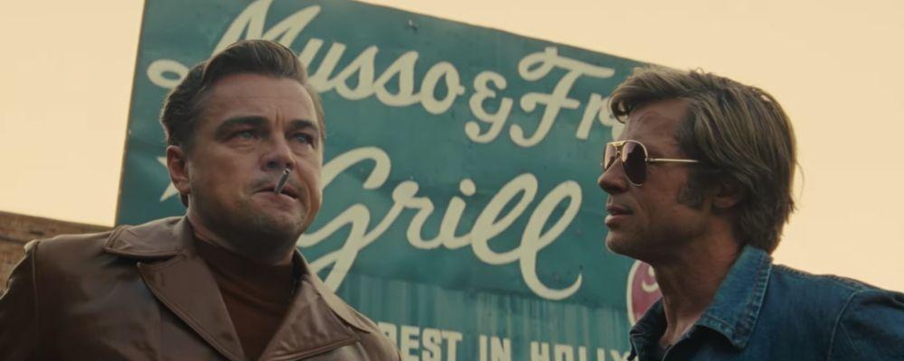 Quentin Tarantino, Leonardo DiCaprio e Brad Pitt: il trailer di C'era una volta... a Hollywood