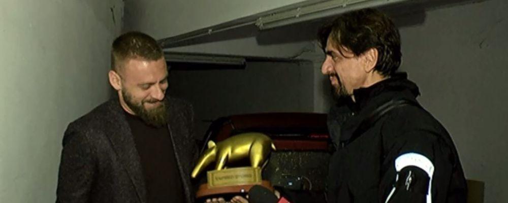 Tapiro d'oro per Daniele De Rossi: 'Un pochino ci son rimasto male'