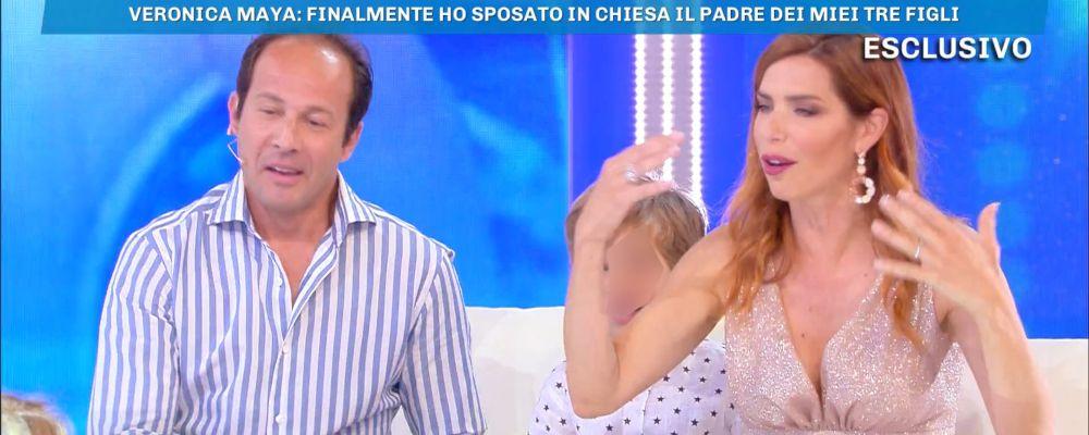 Veronica Maya, terze nozze con il marito Marco Moraci: il racconto a Domenica Live