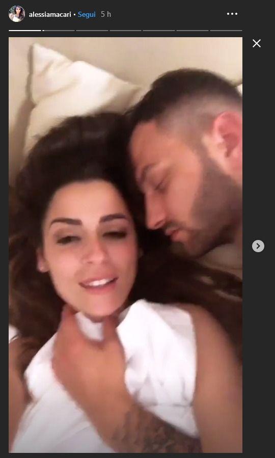 Alessia Macari smentisce la lite con il marito la prima nott