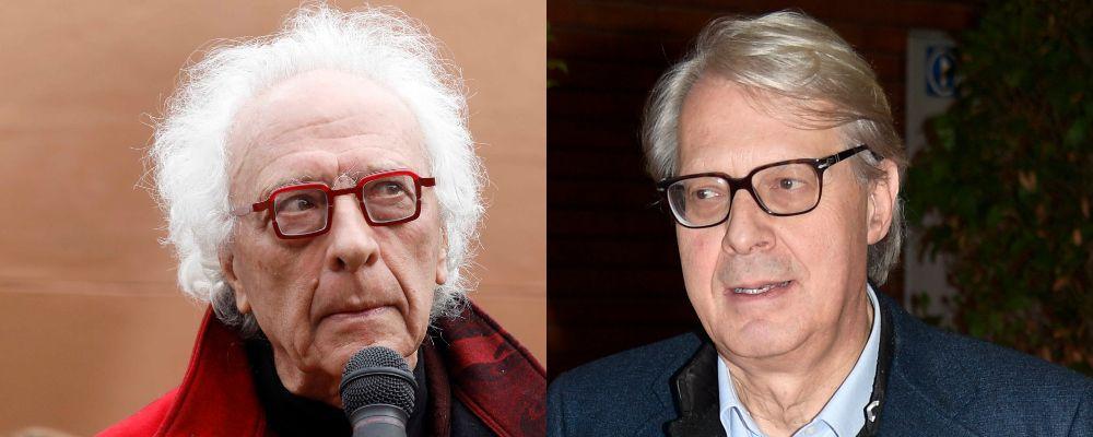 Vittorio Sgarbi e Giampiero Mughini, rissa in tv: volano sedie a Stasera Italia
