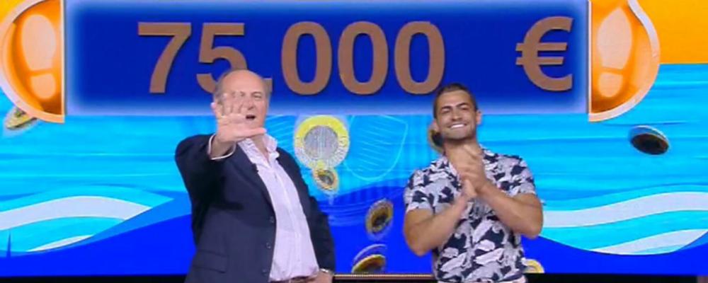 Caduta libera, il campione Christian Fregoni vince 75mila euro