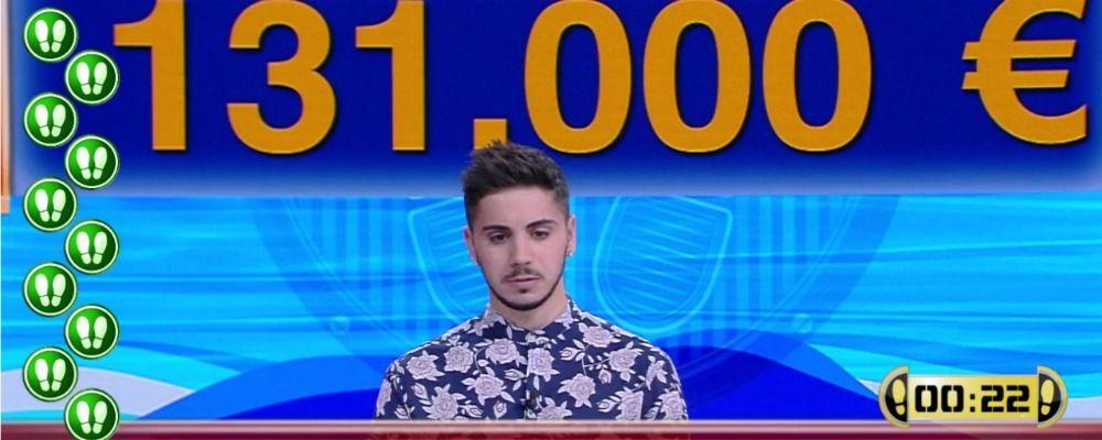 Caduta libera, Nicolò Scalfi vince e sfonda il muro dei 640mila euro