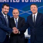 Ascolti tv, dati Auditel 15 ottobre: la Nazionale sfiora i 6 milioni, boom di Porta a Porta con Matteo Salvini e Matteo Renzi