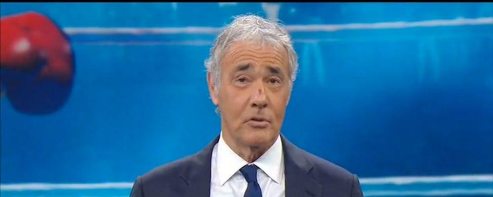 Massimo Giletti in onda con una ferita al naso: 'Avendo il naso rotto, risse e pugni sono in tema'