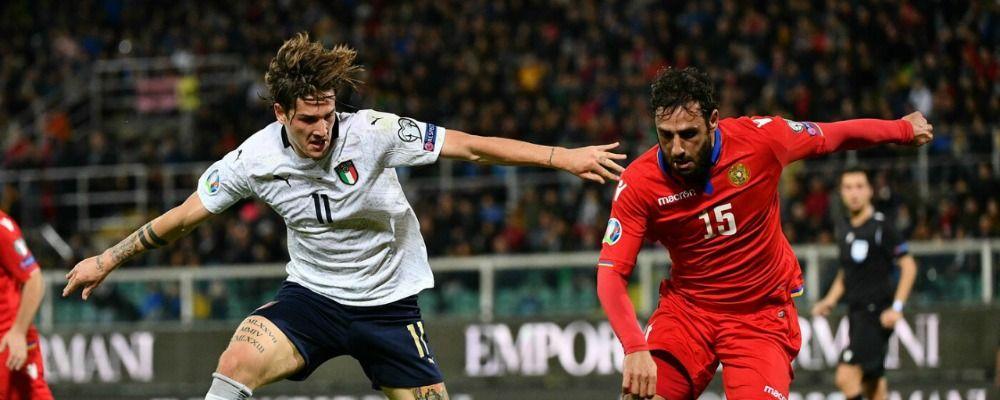 Ascolti tv, dati Auditel lunedì 18 novembre: Italia - Armenia vince con 5.7 milioni
