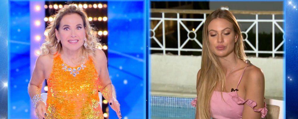 Che succede a Taylor Mega, Barbara d'Urso in collegamento: 'Cosa stai biascicando?'