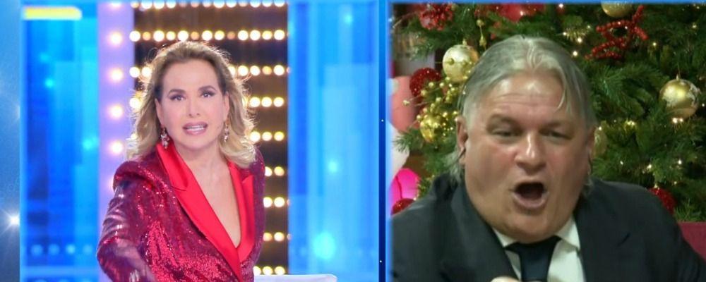 Sergio Vessicchio minaccia Barbara d'Urso a Live: 'Ti faccio nera'