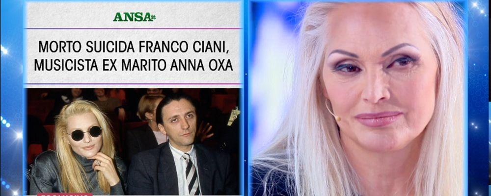 """Anna Oxa: """"Il suicidio di Franco Ciani? Molto strano"""""""