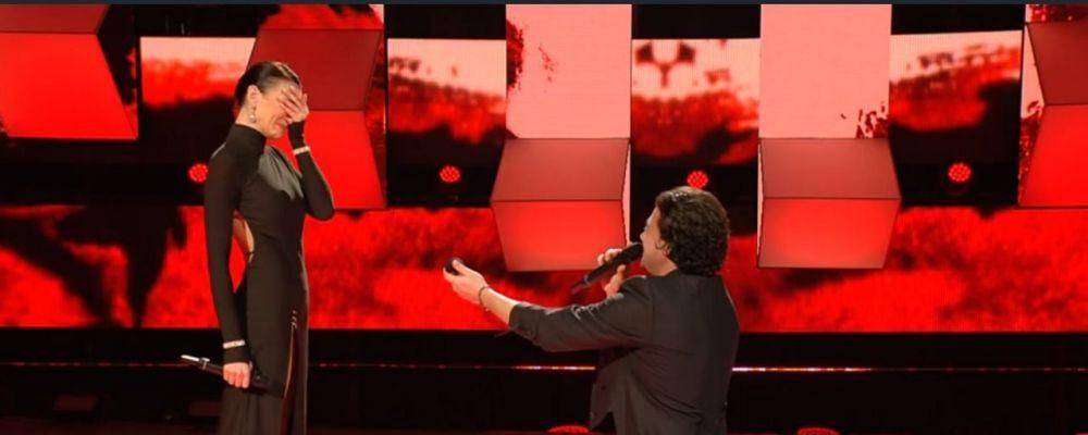 All Together Now, Vittorio Grigolo e la proposta di matrimonio alla fidanzata Stefania Seimur