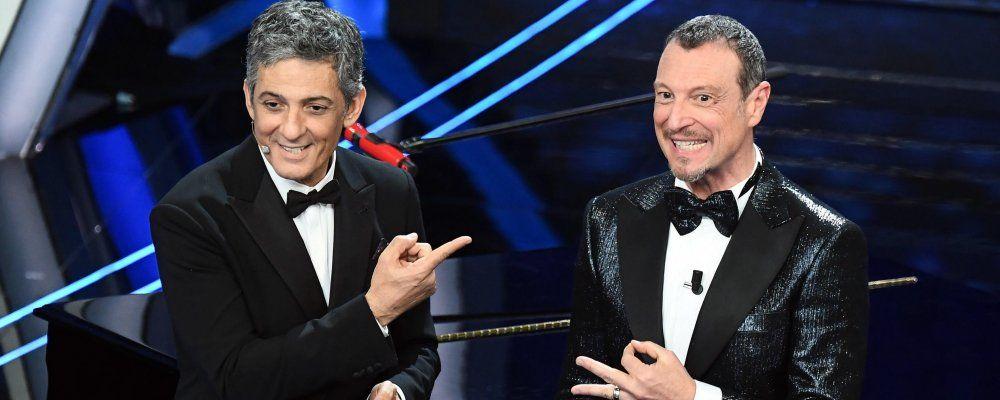Sanremo 2020 ascolti prima serata: Amadeus e Fiorello meglio di Conti, Baglioni e Fazio