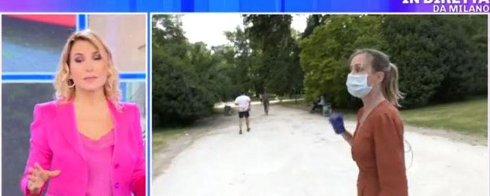 Pomeriggio 5, incidente in diretta: il runner si cala le braghe
