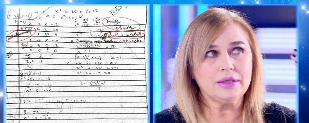 Lory Del Santo e il foglio scritto del figlio morto suicida: 'La morte è un archivio'