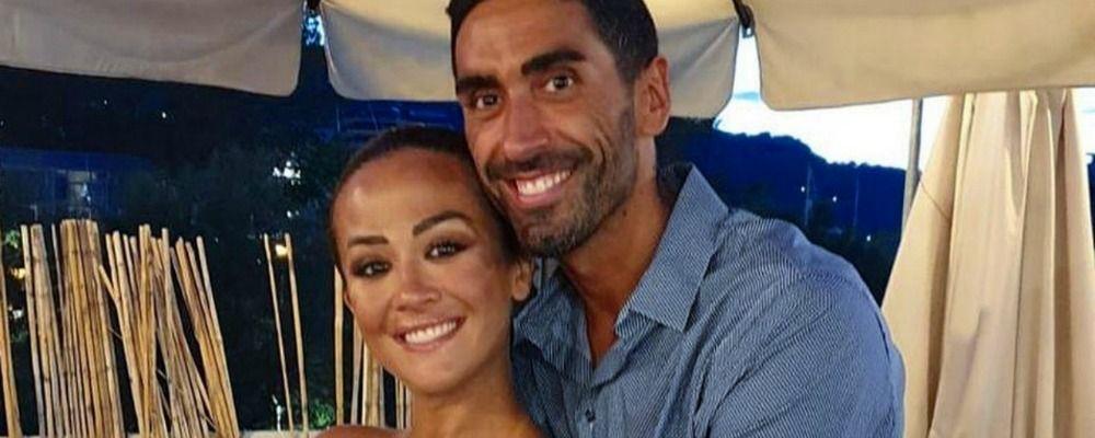 Giorgia Palmas e Filippo Magnini, prima foto di famiglia con la figlia Mia