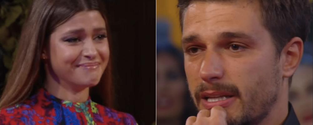 GFVip, Andrea Zelletta incontra la fidanzata Natalia Paragoni: 'Ho trovato la donna della mia vita'