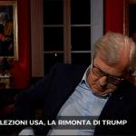 Elezioni Usa, Vittorio Sgarbi si addormenta in diretta tv da Nicola Porro