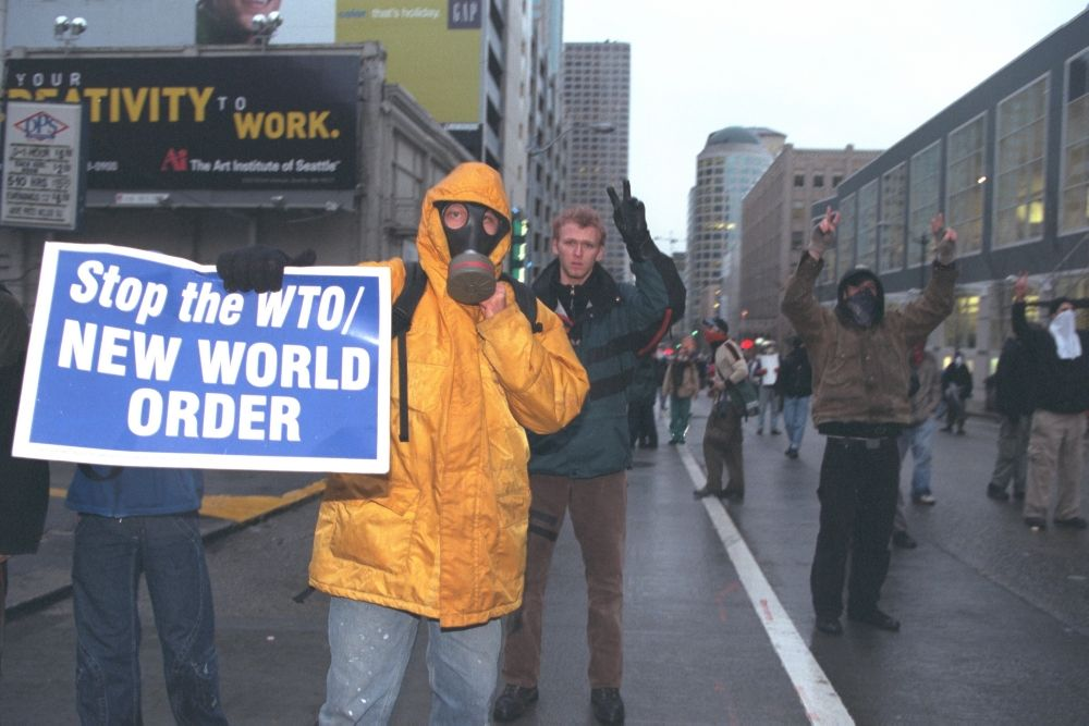 Wto Summit: Demonstrations In Seattle.  (Photo by Pascal Le Segretain/Sygma via Getty Images)
