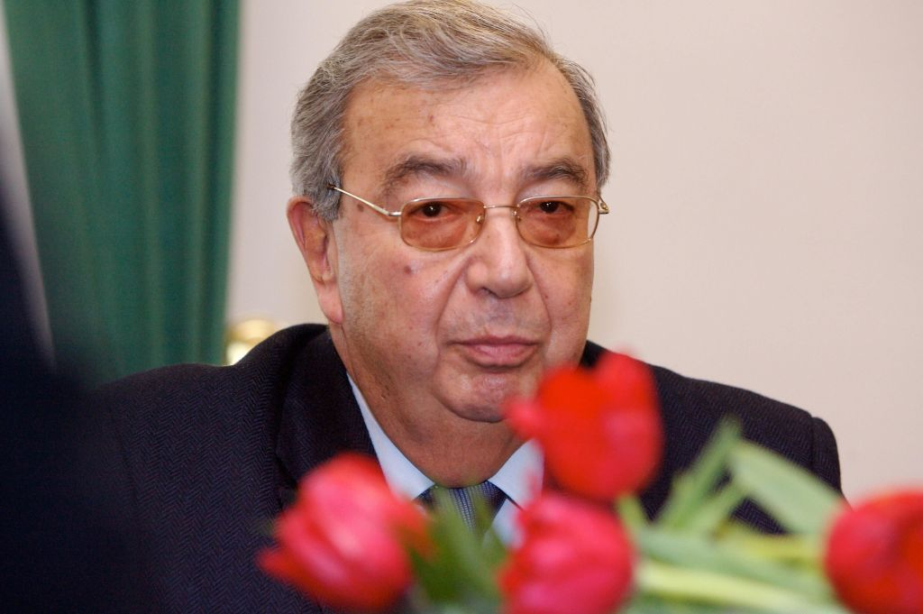Riga, LATVIA: Former Russian Prime Minister Yevgeny Primakov is pictured during his meeting with Latvian President Vike-Freiberga (out of camera range) in Riga, 05 February 2007. AFP PHOTO/ILMARS ZNOTINS (Photo credit should read ILMARS ZNOTINS/AFP/Getty Images)