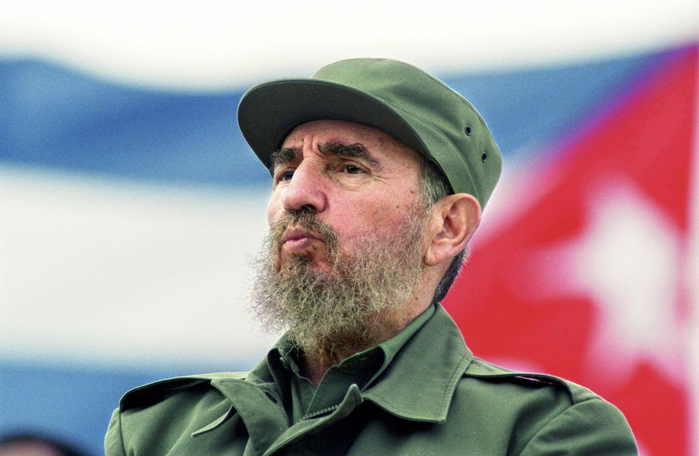 HAVANA, CUBA - MAY 1: Fidel Castro observes the May Day parade at the Revolution Square in Havana, Cuba May 1, 1998. (Photo by Sven Creutzmann/Mambo Photography/Getty Images)