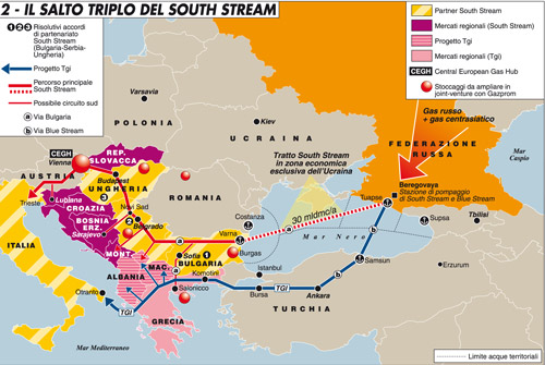 Il salto triplo del South Stream