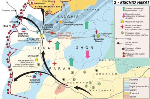 Afghanistan: bomba contro italiani a Herat