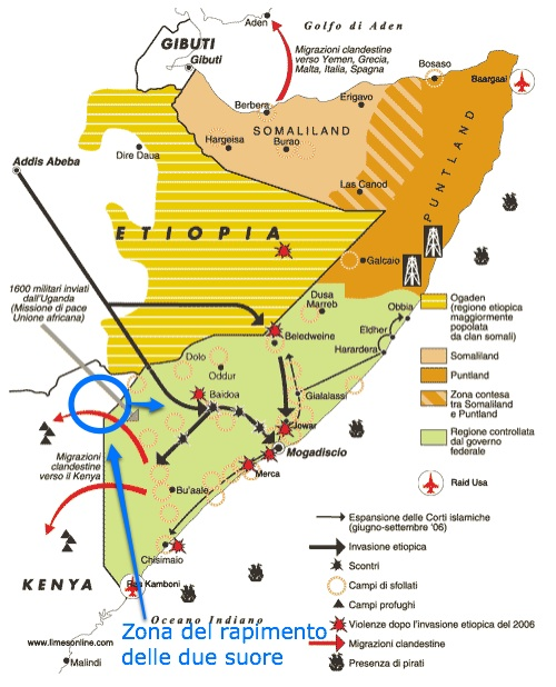 Kenya-Somalia: rapite due suore