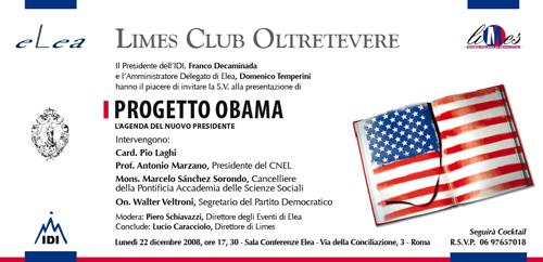 Progetto Obama a Roma