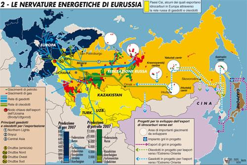 Le nervature energetiche di Eurussia