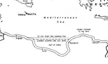 Gheddafi e la rivendicazione del Golfo della Sirte