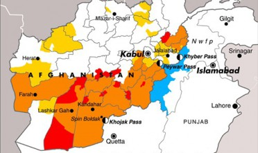 Afghanistan: le aree più insicure