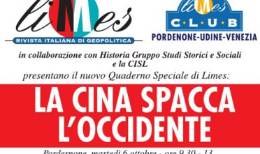 Pordenone: La Cina spacca l'Occidente