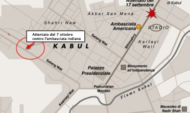 Afghanistan: attentato contro l'India