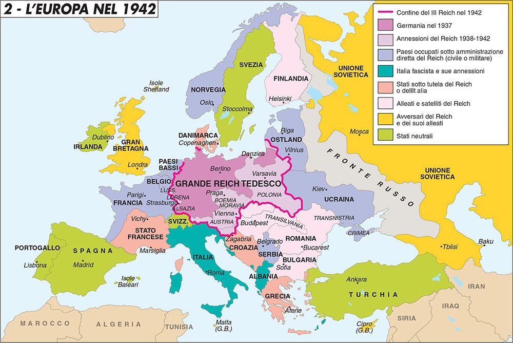L Europa Cartina Geografica.L Europa Nel 1942 Limes