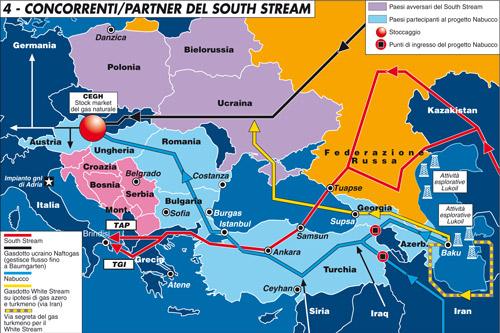 La Russia e il grande gioco dei gasdotti