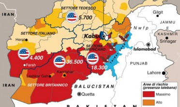 Mappe: lo schieramento Usa in Afghanistan