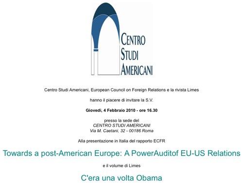Roma: C'era una volta Obama