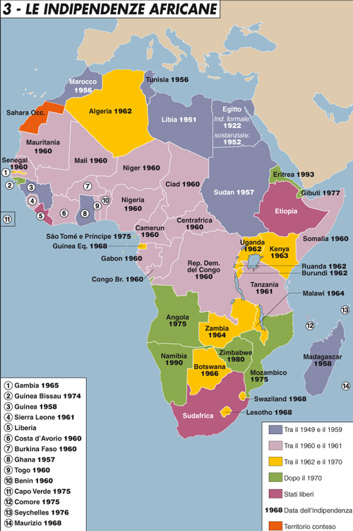 Le indipendenze africane