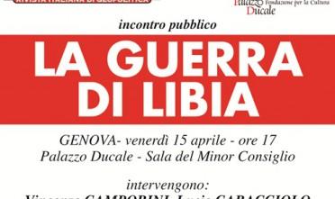 Genova: La guerra di Libia