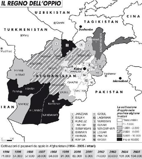 Il Tagikistan è invaso dalla droga