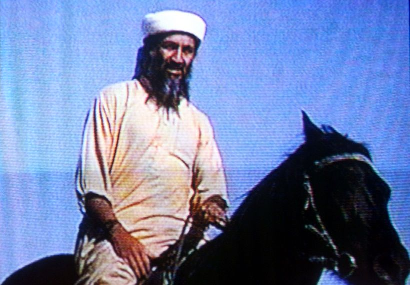 394735 01: (FILE PHOTO) Suspected terrorist Osama bin Laden is seen in this undated photo taken from a television image. (Photo by Getty Images)