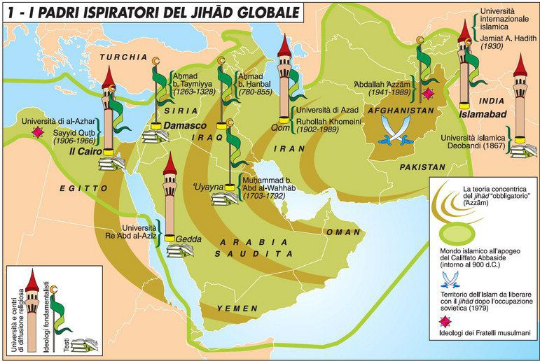 padri ispiratori jihad globale