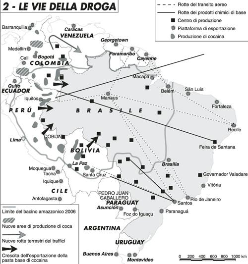 Tutta la droga del Centroamerica dalla A agli Zetas