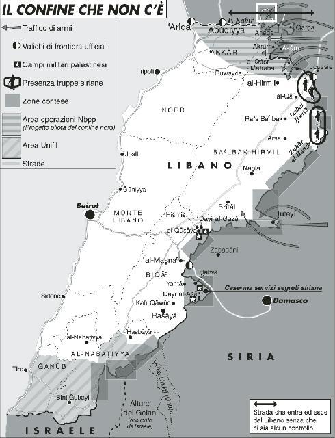 La Siria scopre la sovranità del Libano