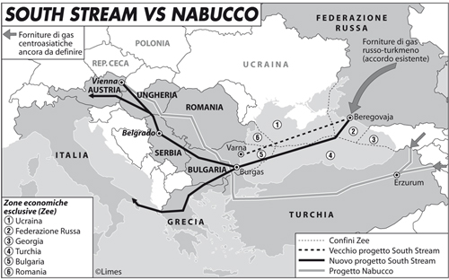 South stream vs Nabucco
