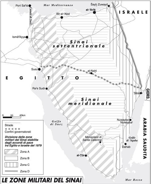 Le zone militari del Sinai