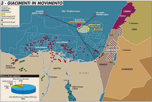 Le mire internazionali sul gas egiziano