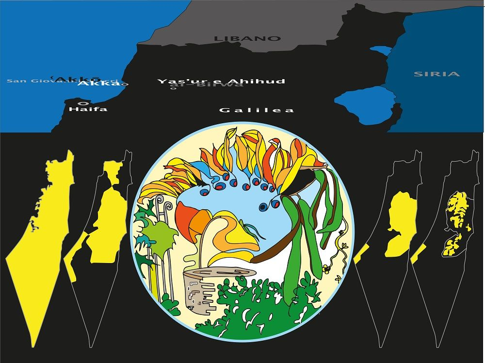 """Mahmud Darwish, Mappe di una memoria obliterata"", opera di Laura Canali."