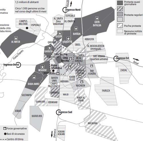 La lotta armata in Siria, da Homs al Libano