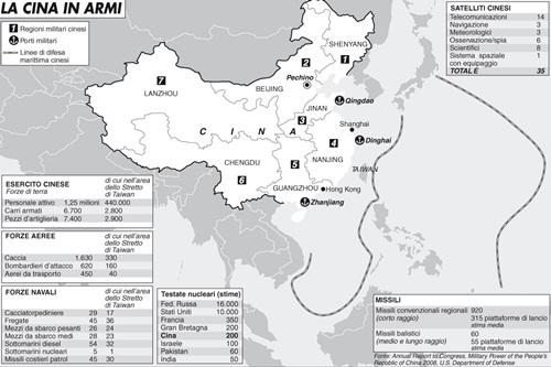 L'esercito della Cina scende in campo