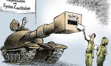 Vignetta: il referendum in Siria